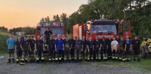Kameraden der VG Göllheim beim Hochwassereinsatz in Dernau