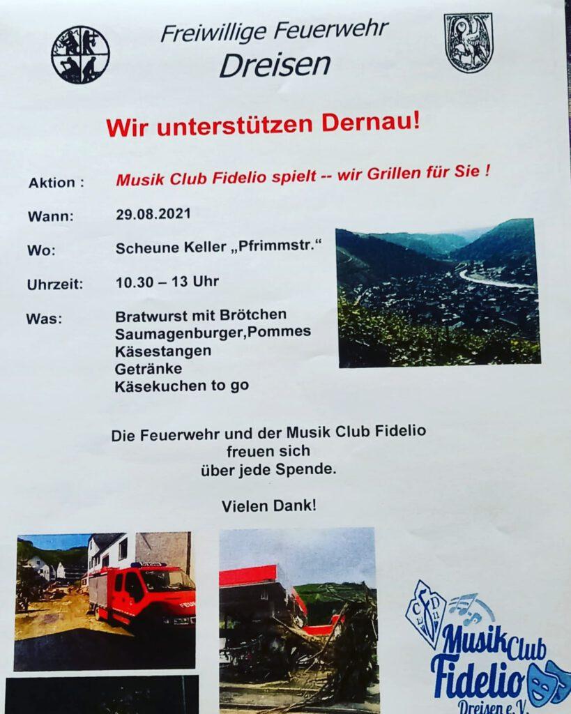 Plakat Feuerwehr Dreisen Frühschoppen